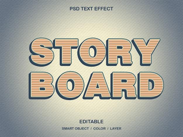 Story board - efeito de texto psd Psd Premium