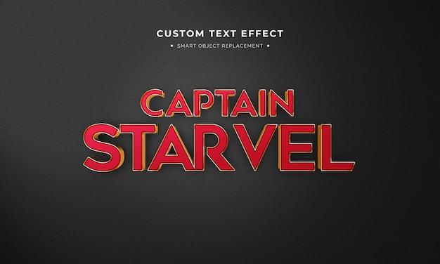 Super-herói filme estilo de texto 3d Psd Premium
