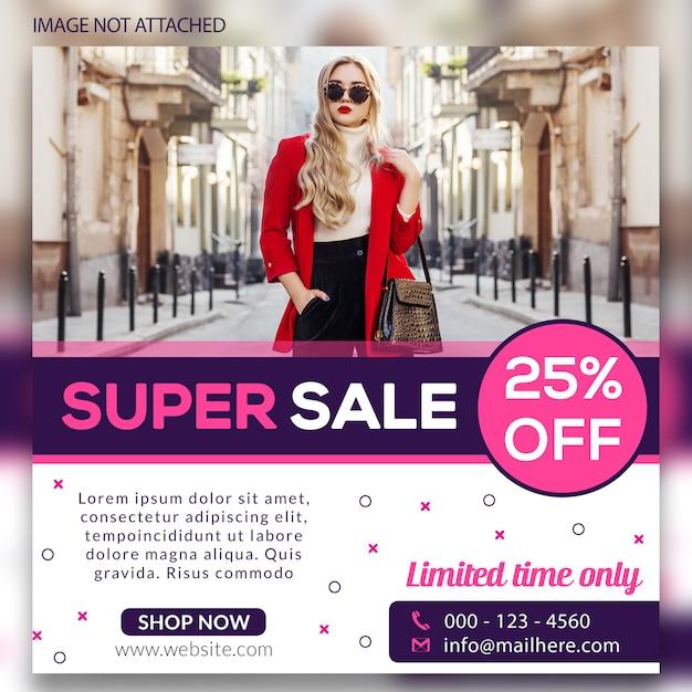 Super venda social web banners Psd Premium