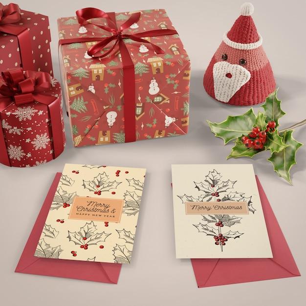 Surpresa de cartão de natal para um ente querido Psd grátis