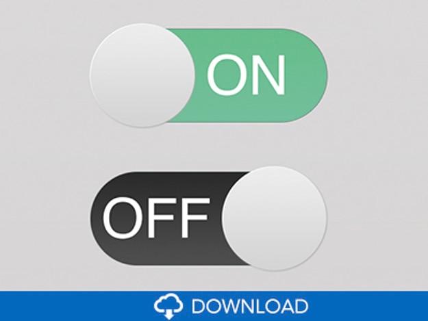 Switchs planas botões ui psd Psd grátis