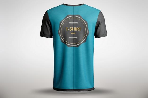 T-shirt azul mock up Psd grátis