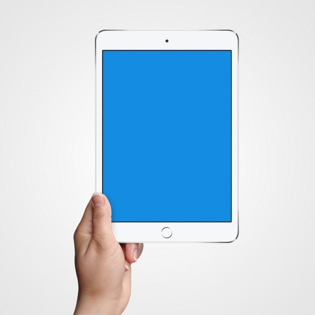 Tablet mock up projeto Psd grátis