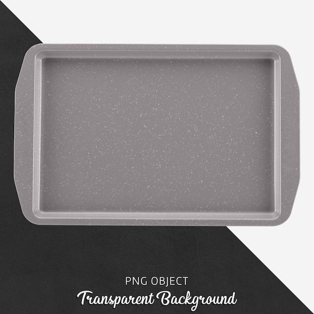 Tabuleiro de forno cinzento transparente Psd Premium