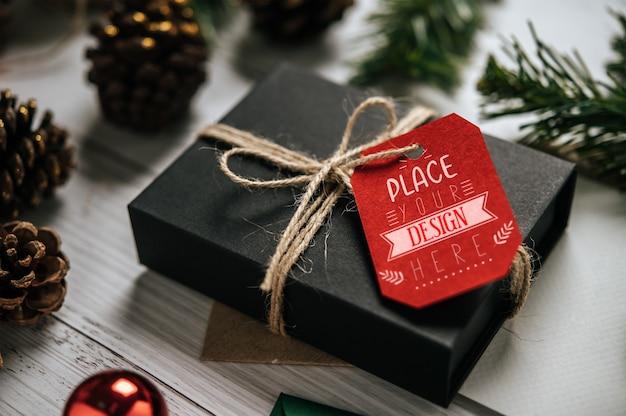 Tag de presente de natal psd Psd grátis