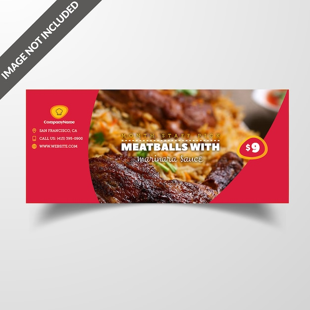 Tampa de mídia social de comida de restaurante & post modelo premium vector Psd Premium