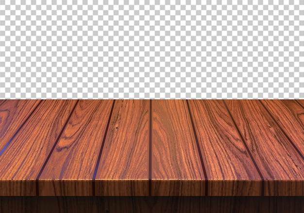 Tampo de madeira isolado em fundo transparente Psd Premium