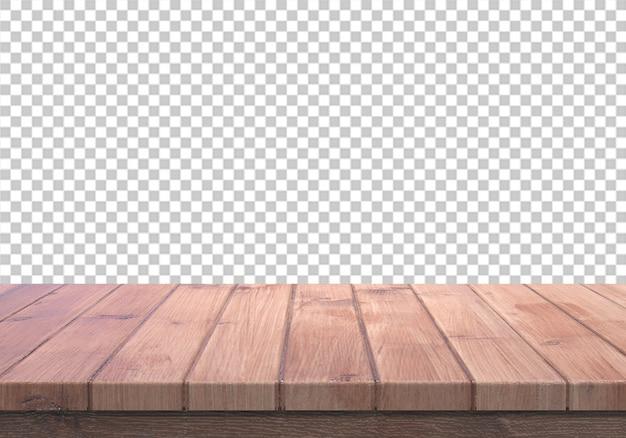 Tampo de madeira isolado em transparente Psd Premium