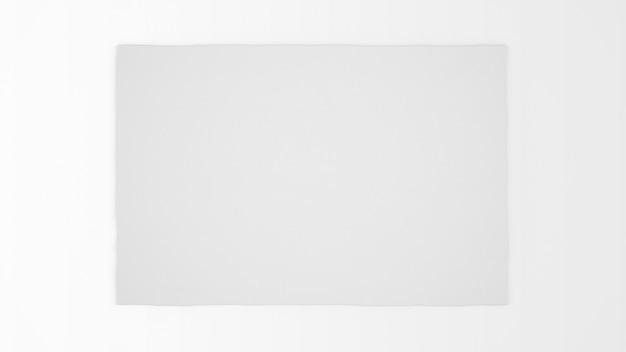 Tapete branco realista na vista superior Psd grátis