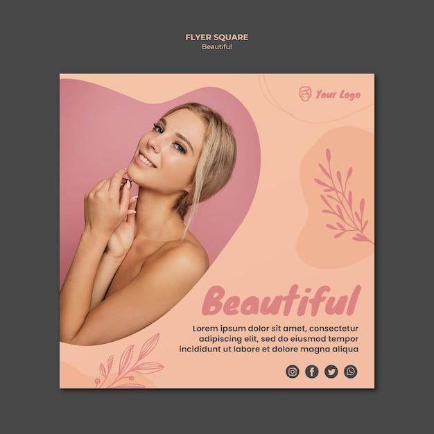 Tema de modelo de banner de beleza Psd grátis