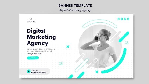 Tema do banner da agência de marketing digital Psd Premium