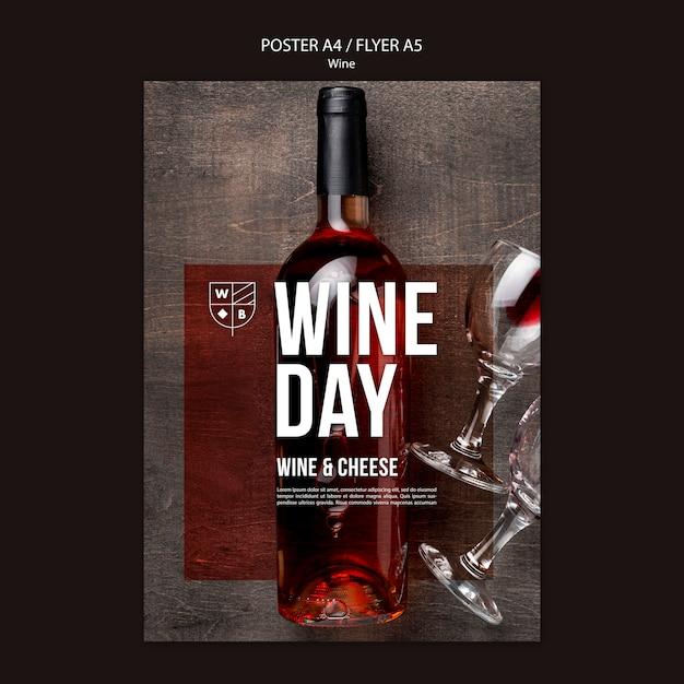 Tema do modelo de cartaz de vinho Psd grátis