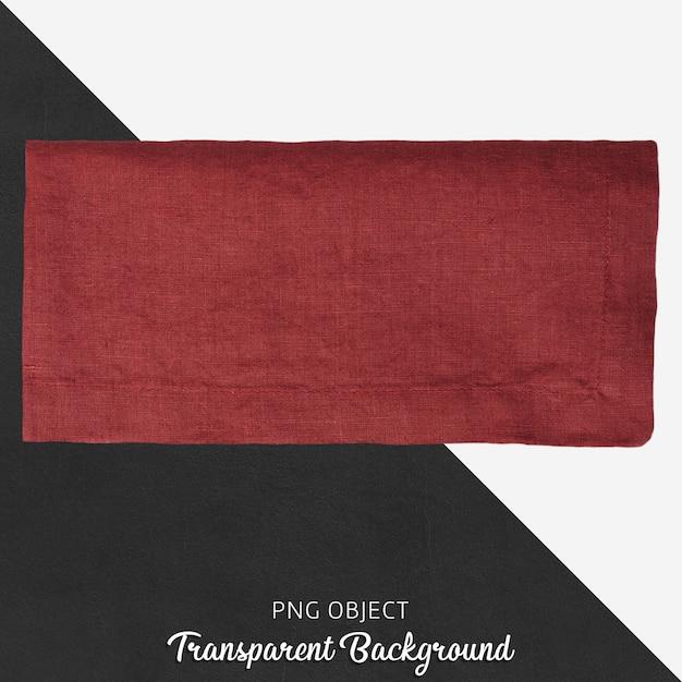 Têxtil vermelho claret em fundo transparente Psd Premium