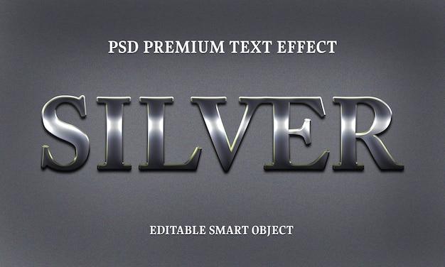 Texto de prata effectportrait de mulher bonita Psd Premium