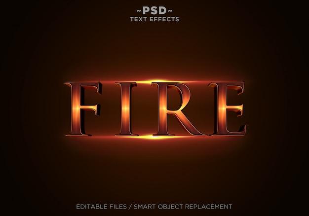 Texto editável dos efeitos de fogo 3d Psd Premium