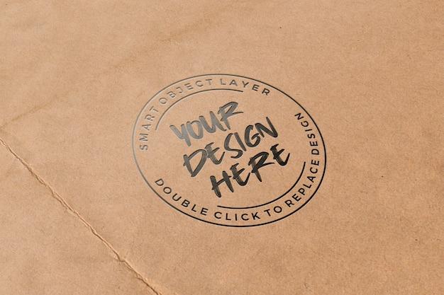 Tipografia em maquete de papel Psd Premium