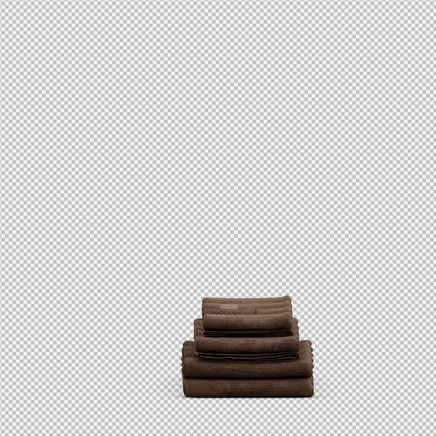 Toalhas dobradas 3d isolado render Psd Premium