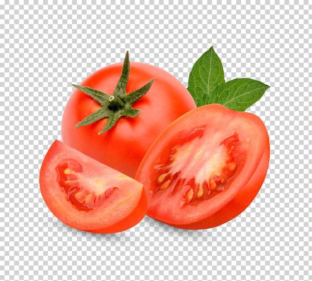 Tomates frescos com folhas isoladas Psd Premium