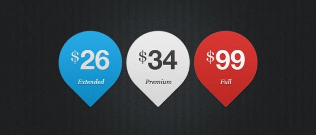 Três etiquetas de preços psd material Psd grátis