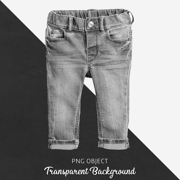 Trousers de brim preto transparente para bebê ou crianças Psd Premium
