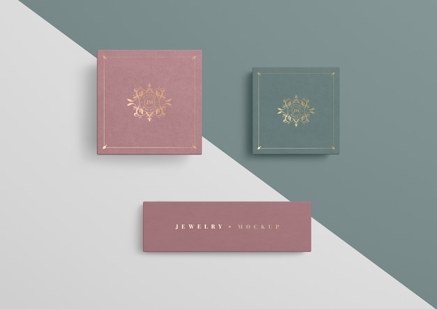 Variedade de caixas de presente de embalagem de jóias Psd grátis