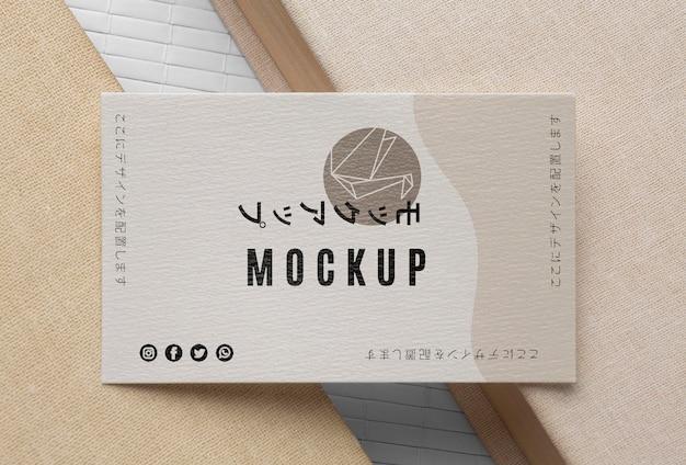 Variedade de mock-up de cartão de visita de vista superior Psd grátis