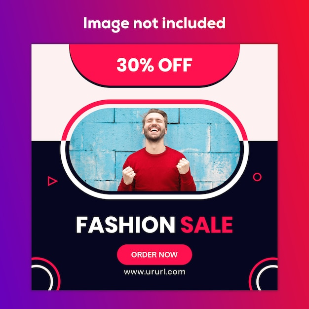Venda de moda design de banner de mídia social de marketing Psd Premium