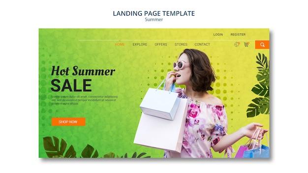 Venda de verão de modelo de página de destino Psd grátis