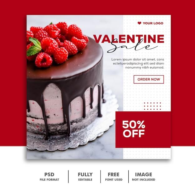 Venda especial dos namorados para publicação em mídia social Psd Premium