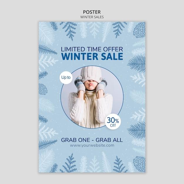 Vendas de inverno com tempo limitado Psd grátis