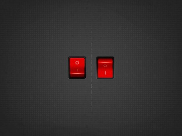 Vermelho no switch off Psd grátis