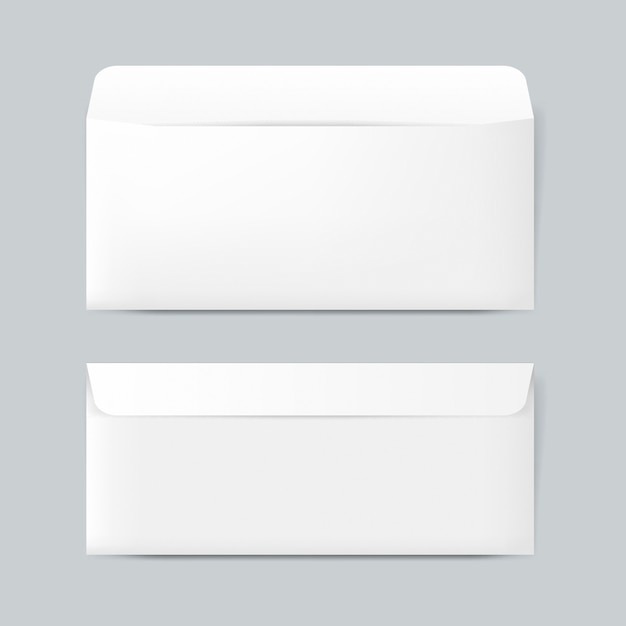 Vetor de maquete de design de envelope de papel simples Psd grátis