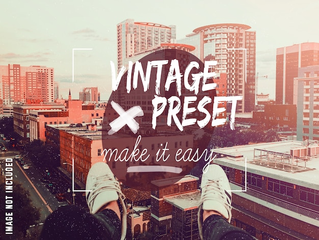 Vintage predefinido no photoshop Psd grátis
