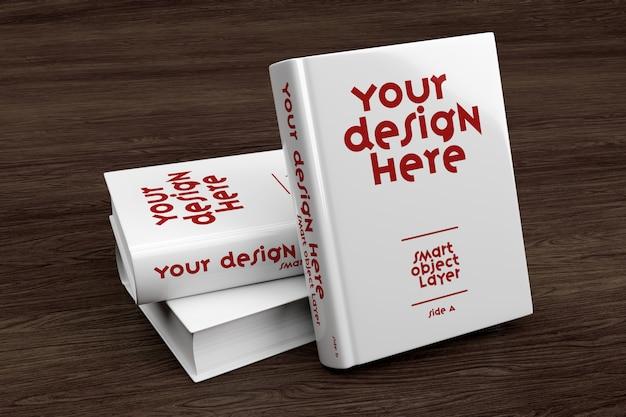 Vista de um modelo de capa de livro Psd Premium
