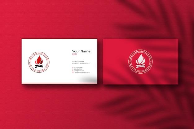 Vista superior da maquete de cartões de visita elegantes Psd Premium