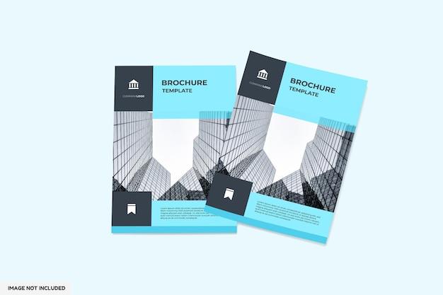 Vista superior do folheto ou maquete de base Psd Premium