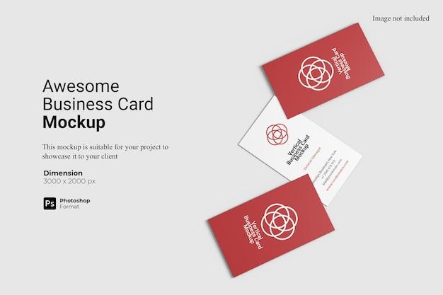 Vista superior - incrível design de modelo de cartão de visita isolado Psd Premium