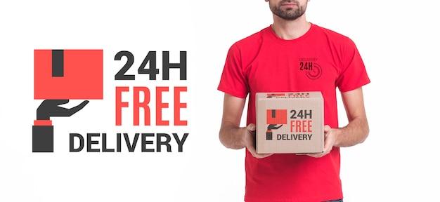 Visualização média gratuita de entrega sem parar Psd grátis