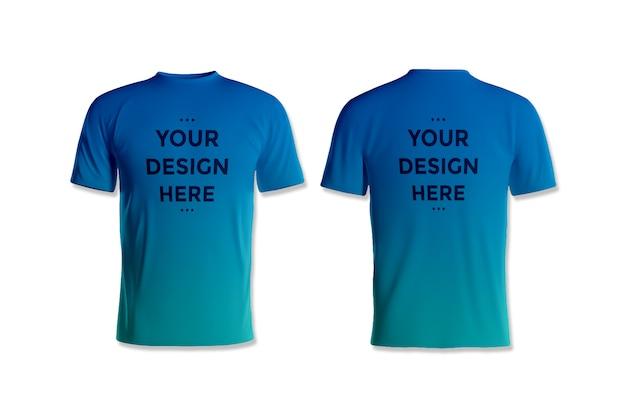 Vitrine de maquete de t-shirt frente e verso Psd Premium
