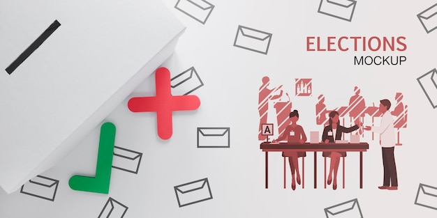 Votação para o modelo de eleições Psd grátis