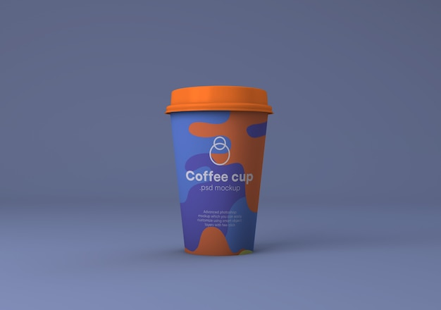 Xícara de café de papel marca maquete psd Psd Premium