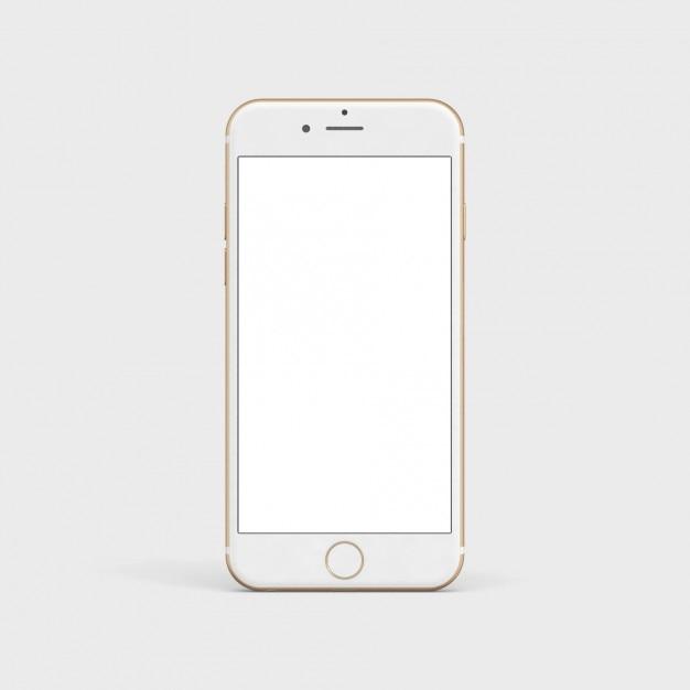 Blanc téléphone mobile maquette Psd gratuit