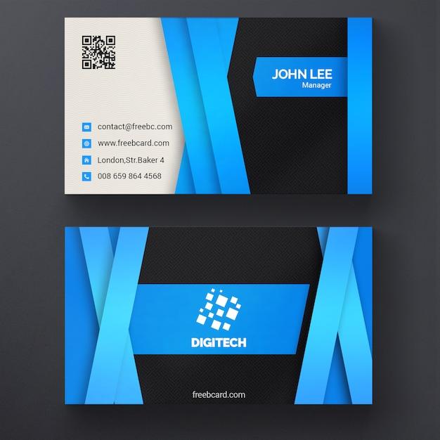 bleu mod u00e8le de carte de visite d u0026 39 entreprise