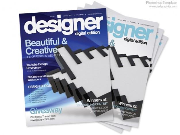blue design couverture de magazine mod le d 39 impression psd t l charger psd gratuitement. Black Bedroom Furniture Sets. Home Design Ideas