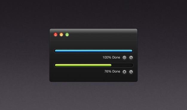 boutons de sombres t u00e9l u00e9chargement gratuit ing mac procent psd ui interface utilisateur