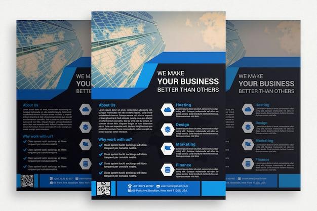 Brochure commerciale noire Psd gratuit
