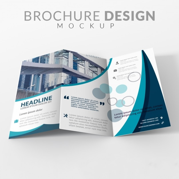 Brochure maquette de conception Psd gratuit