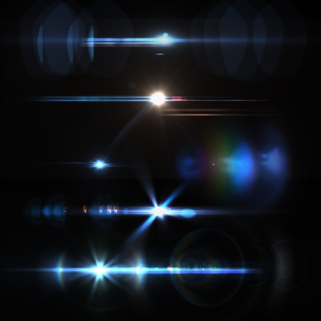 Coloré lumières collection Psd gratuit