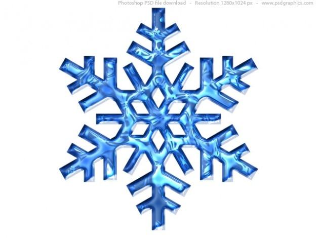Flocon de neige bleu ic ne psd t l charger psd gratuitement - Gabarit flocon de neige a decouper ...