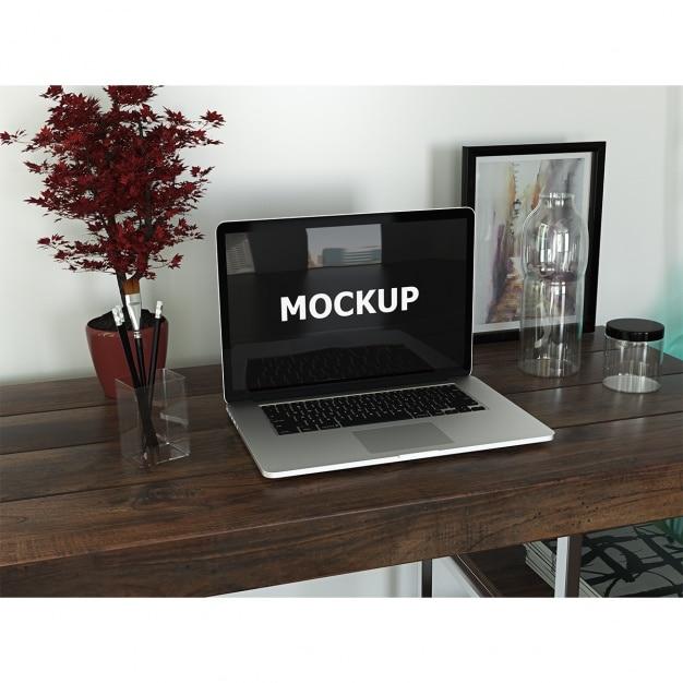 graphistes espace de travail avec un ordinateur portable t l charger psd gratuitement. Black Bedroom Furniture Sets. Home Design Ideas